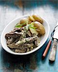 Beef ,potato and tarragon salad