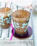 Banana,chocolate and soya milk drink