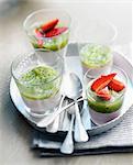 Kiwi-strawberry mousse Verrines