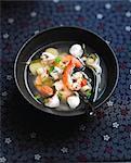 Thai-style shrimp and citronella soup