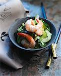 Japanese-style cucumber and shrimp salad