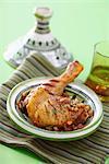 Chicken Tajine with raisins and pine nuts