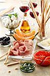 Selection of antipasti