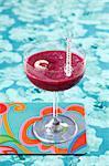 Raspberry-lychee smoothie