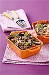 Eggplant, mozzarella and tomato savoury crumble