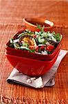 Grilled vegetable,rocket lettuce and parmesan salad