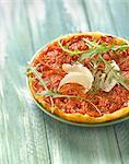 Tomato tatin tartlet
