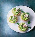 Guacamole tartlets