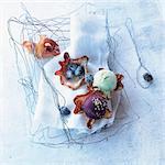 Scoops of ice cream in tulipe casings