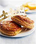 Individual low-fat almond paste Galettes des rois