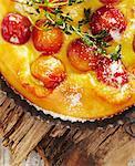 Yellow cherry tartlet