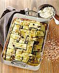 Braided zucchini bake