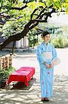 Japanese woman in a Yukata