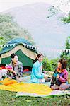 Girls camping