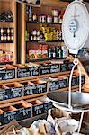 Australia, Western Australia, Albany.  Foodstuffs at Solomon Merchants - an old fashioned grocer.
