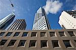 Australia, Western Australia, Perth.  Urban architecture in central business district.