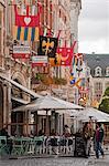 Leuven, Belgium. Cafe in Leuven's historic town centre.