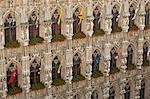 Leuven, Belgium. Detail from Leuven's mid-15th century town hall.