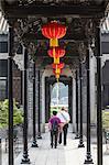 People at Chen Clan Academy, Guangzhou, Guangdong, China