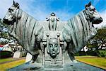 Iceland, Reykjavik, Einar Jonsson Sculpture Garden and Museum, Konungar Atlantis (The King of Atlantis) 1919-1922