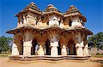 Asia, India, Karnataka.  The two-storeyed Lotus Mahal in the Zenana or ladies' quarter.