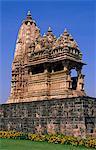 Asia, India, Madhya Pradesh, Khajuraho.  Javari Temple.