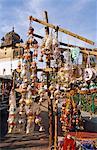 India, Madhya Pradesh, Orchha, view of Bazaar