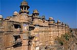 Asia, India, Madhya Pradesh, Gwalior, the Fort walls