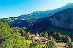 Europe, Swiss Alps, Switzerland, Bernese Oberland, Swiss Alps Jungfrau-Aletsch, Unesco World Heritage site, Lauterbrunnen Valley