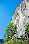 Europe, Swiss Alps, Switzerland, Bernese Oberland, Swiss Alps Jungfrau-Aletsch, Unesco World Heritage site, Lauterbrunnen Valley, Lauterbrunnen waterfall
