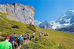 Europe, Swiss Alps, Switzerland, Bernese Oberland, Swiss Alps Jungfrau-Aletsch, Unesco World Heritage site, Jungfrau marathon