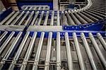 Empty conveyer belt in distribution warehouse