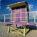 Art Deco Lifeguard Station, South Beach, Miami, FL