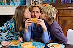 Family eating Epiphany Cake