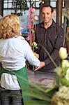 Woman florist in her shop