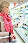 France, supermarket, customer.