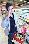 France, supermarket, customers.