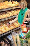 France, supermarket, bread.