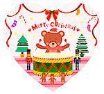 Christmas decoration on heart shape symbol