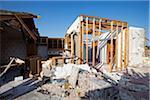 Tornado Damage to House, Moore, Oklahoma, USA.