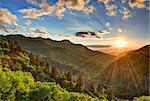 Newfound Gap in the Smoky Mountains near Gatlinburg, Tennessee.