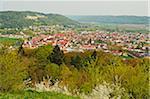 View of Beilngries, Altmuehl Valley, Bavaria, Germany, Europe