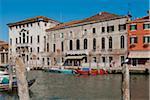 Canal on Murano Island, Venice, Veneto, Italy, Europe