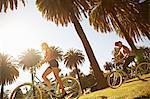 Women riding bicycle