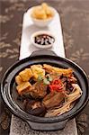 Pot of pork ribs