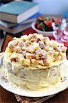 Mimosa tart for the Festa della Donna (Italian women's festival)