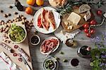 A still life of Mediterranean foodstuffs