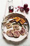 Bruschetta with assorted spreads