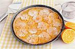 Juicy Orange Tart, selective focus
