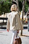 Woman walking on a street